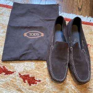 TOD'S Brown Suede Driving Moccasins Size 12.5US